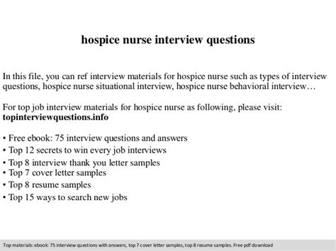 Hospice Resume Cover Letter Hospice Questions