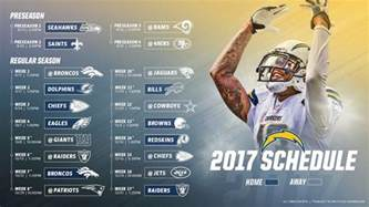 Printable Nfl Schedule 2017 Chargers Schedule Released Reaction Youtube