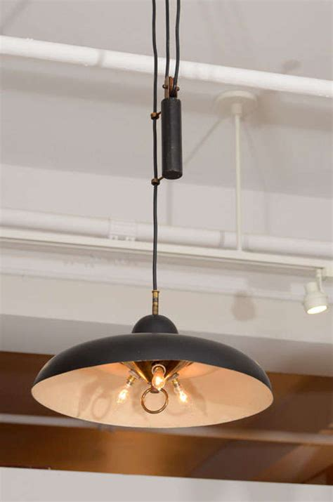 Chandelier Pulley System Italian Chandelier With Counter Weighted Pulley System At
