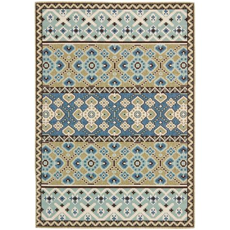 Blue And Green Outdoor Rug Safavieh Veranda Green Blue 8 Ft X 11 Ft 2 In Indoor Outdoor Area Rug Ver093 0642 8 The