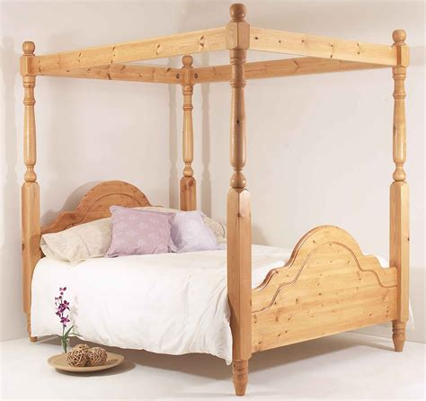 King Size Four Poster Bed Frame 6ft King Bed Frame Solid Pine All Sizes Available Classic Four Poster Ebay