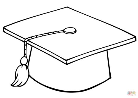 template of graduation hat graduate cap coloring page free printable coloring pages