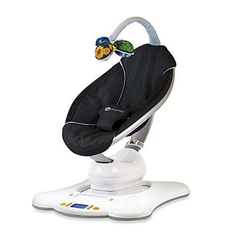 black and white baby swing 4moms mamaroo infant seat bouncer black buybuy baby