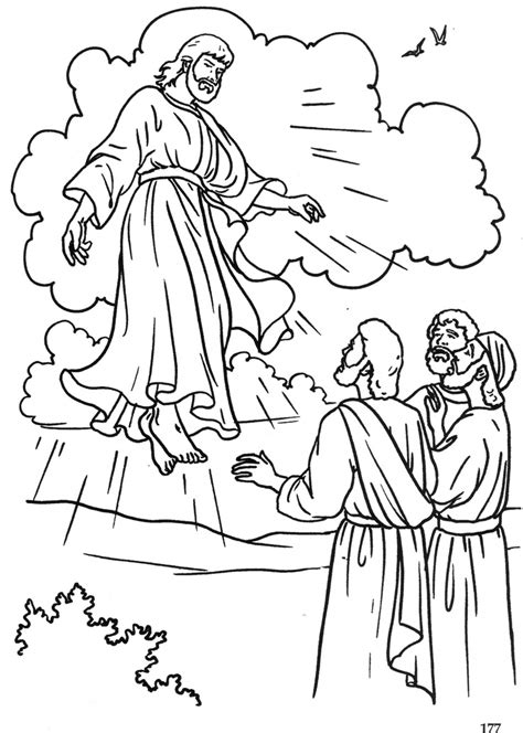 The Ascension Catholic Coloring Page Ladies Auxiliary Catholic Coloring Pages