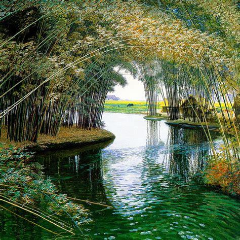 imagenes de paisajes tranquilos im 225 genes arte pinturas paisajes chinos zen en pintura