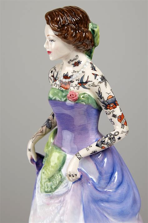 porcelain doll figurines tattooed porcelain figures by harrison colossal