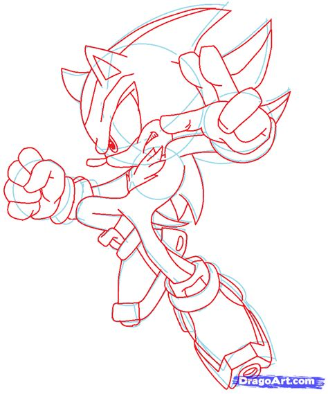 draw on how to draw shadow the hedgehog step by step sonic