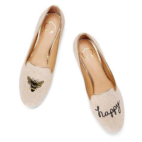 happy shoes c bee happy slipper in white metallic
