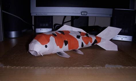 Papercraft Fish - koi papercraft by rideaseeker629 on deviantart