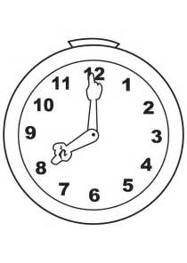 clock coloring page clock drawing coloring child coloring