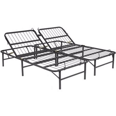 Metal Bed Frame Queen Size Base Adjustable Head Platform Basic Metal Bed Frame
