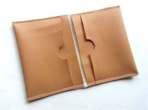 credit card holder template diy faux leather wallet patterns gift and sewing projects