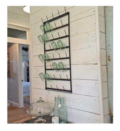 Metal Mug /Glass/ Cup Rack Holder~Black~Wall Rack~French Farmhouse Vintage Style   eBay