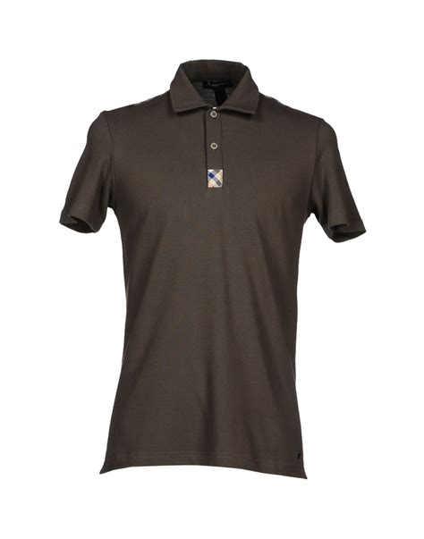 shirts for aquascutum polo shirt in gray for grey lyst