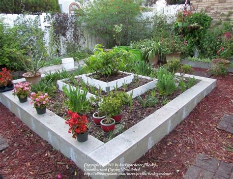 cinder block flower bed pin by jessica on backyard pinterest