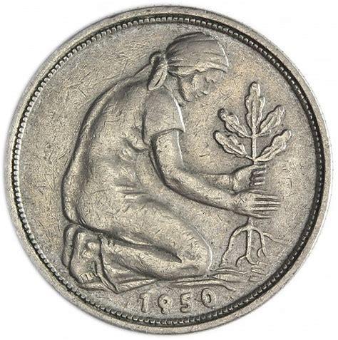 50 pfennig bank deutscher länder 1950 g bdl germany 50 pfennig bank deutscher lander 1950