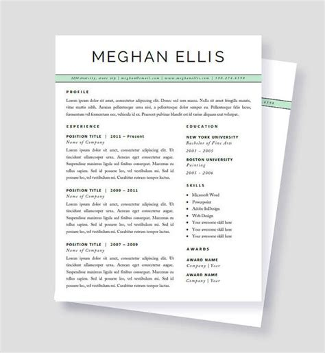 matching cover letter and resume templates 17 best images about printables on free cover