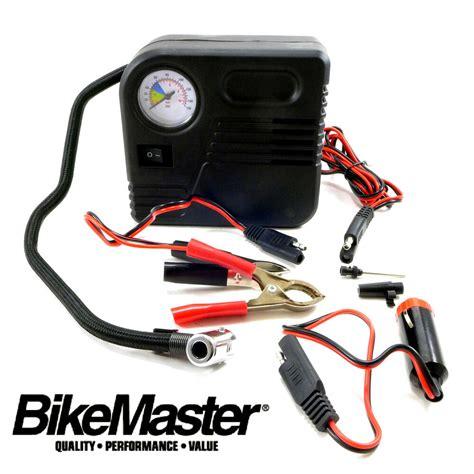 bikemaster mini air compressor tire tool repair flat inflate harley davidson ebay