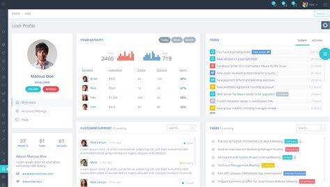 templates for user profile metronic the best admin dashboard template available
