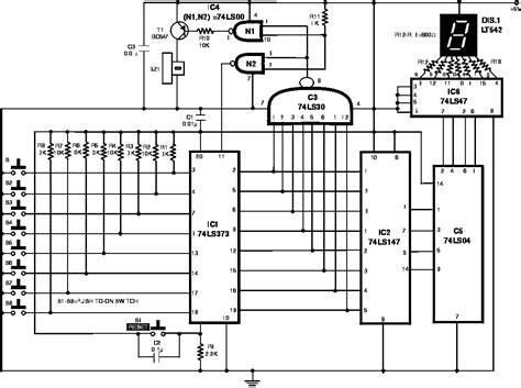 pcb layout quiz gt digital gt display circuits gt quiz game schematic l7872