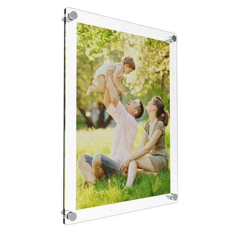 acrylic photo frame poster wall picture holder perspex