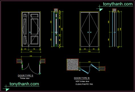 autocad section drawing mdf timber door dwg block mdf door section autocad