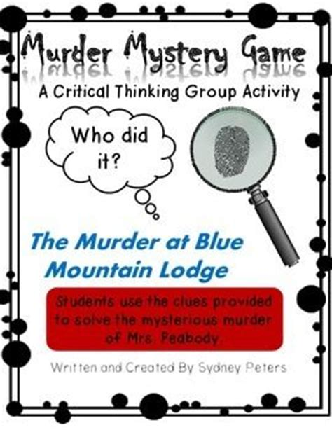 lesson plan for murder a master class mystery master class mysteries books mystery critical thinking and team building skills