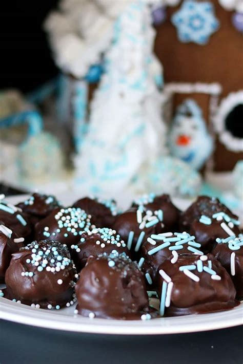 oreo cookie balls frozen gingerbread house recipes food  cooking