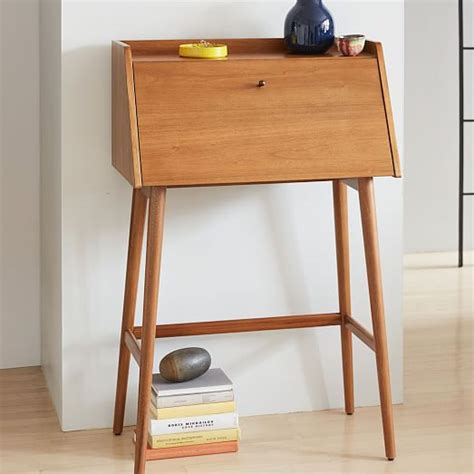 mid century mini desk mid century mini secretary west elm