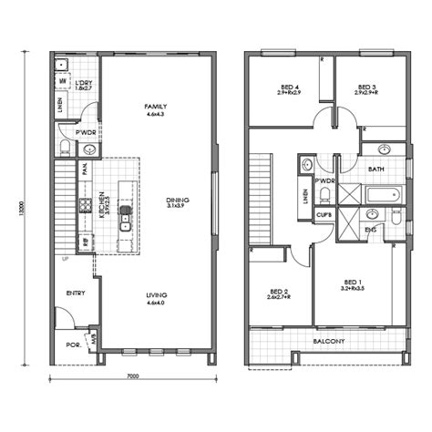 small townhouse floor plans banksia townhouse