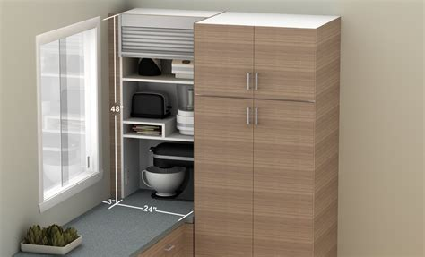 Maximizing Closet Space how to hide smaller appliances in your ikea kitchen