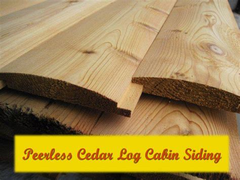 cedar log cabin siding outside