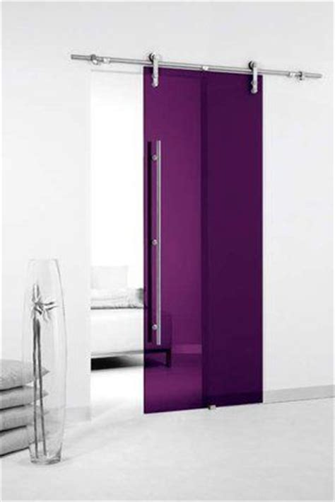 Transparent Colored Glass Sliding Door Could Use Heavy Fabric Panels For Sliding Glass Doors