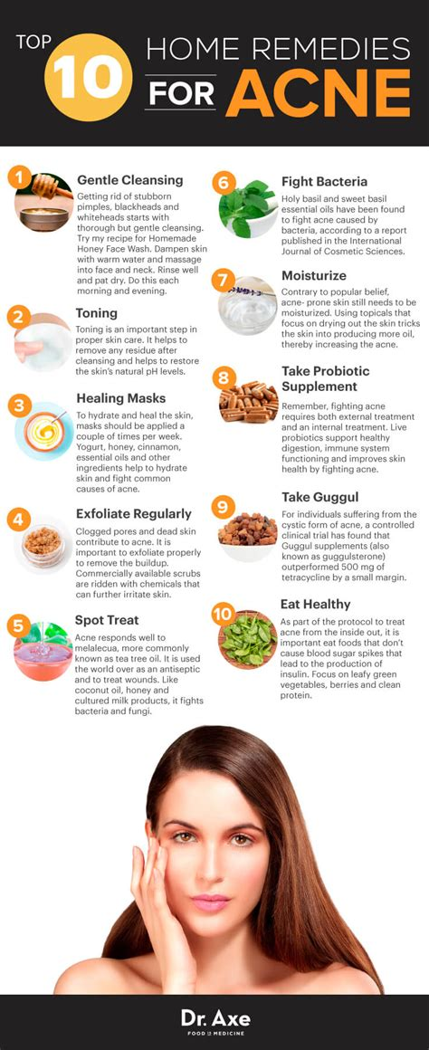 10 home remedies for acne that work dr axe