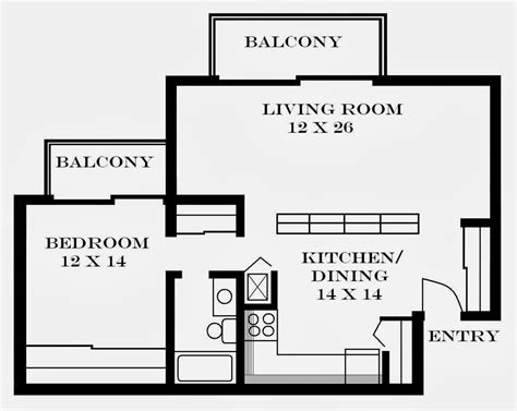 one bedroom efficiency apartment plans apartment layouts architecture world