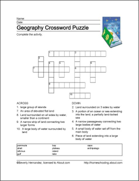 5 themes of geography crossword puzzle geography wordsearch vocabulary crossword and more