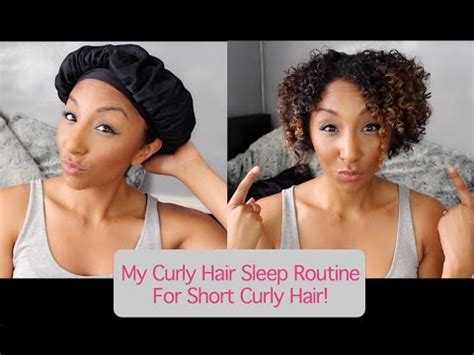 how to wear hair to bed my curly hair sleep routine for short curly hair how to
