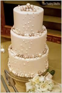 wonderful decorated wedding cakes with pearls weddings