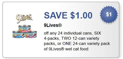 printable 9 lives cat food coupons printable coupons and deals nine lives cat food