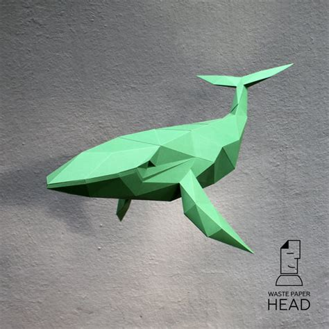 Whale Printing Papercraft Whale Printable Diy Template