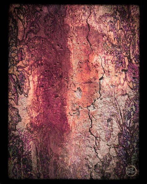 fresco mixed media wall fresco in wine mixed media by absinthe by