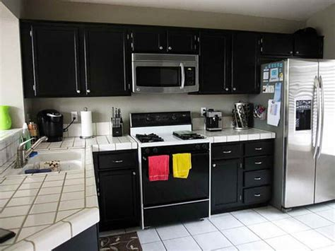Painted Black Kitchen Cabinets Before And After Kitchen Black Painted Cabinets Before And After Black
