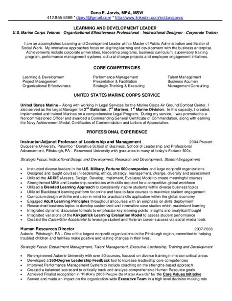 Leader Resume 2013 Jarvis Resume Learning Development Leader