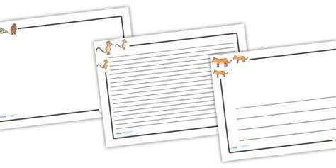 gruffalo writing paper pin by speechie freebies on slp book related freebies