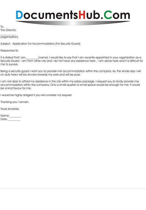 Request Letter Leave Out Accommodation Application Letter For Residence Documentshub