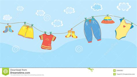 Baby Born Bath And Shower baby clothes banner in the sky stock vector image 26866987