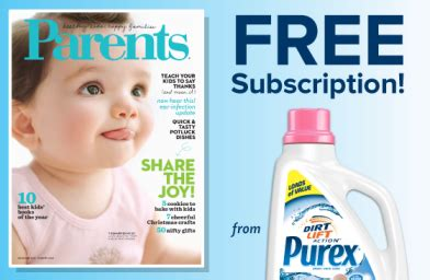 Parents Magazine Sweepstakes - purex parents magazine sweepstakes 15 000 win a year subscription to parents magazine