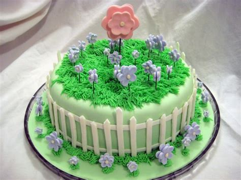 flower garden birthday cake grassy buttercream along with the smooth fondant