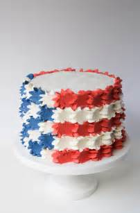 buttercream stars and stripes 4th of july cake erin bakes