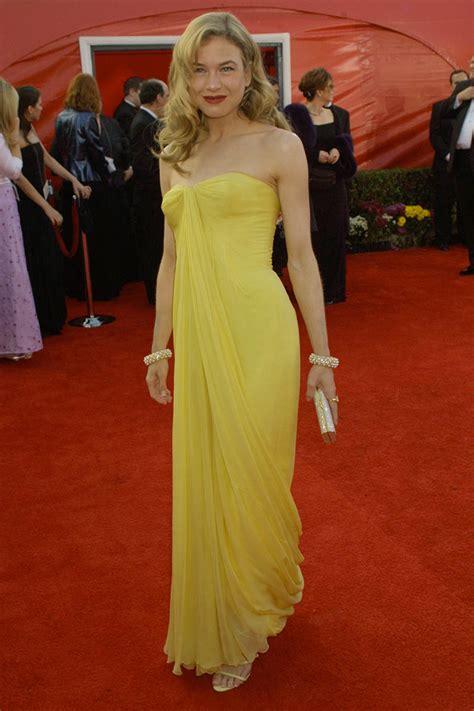 renee zellweger wedding dress renee zellweger vintage slim yellow celebrity evening
